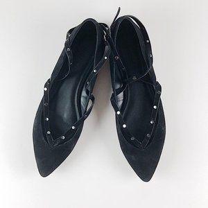 Rebecca Minkoff Studded Black Ballet Flats Pointed